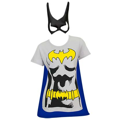 Batman Women's Cape And Mask Costume Tee Shirt