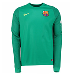 2016-2017 Barcelona Away Nike Goalkeeper Shirt (Green)