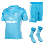 2016-2017 Real Madrid Adidas Home SMU Goalkeeper Mini Kit