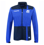 2016-2017 Scotland Macron Rugby Full Zip Waterproof Mesh Jacket (Blue)