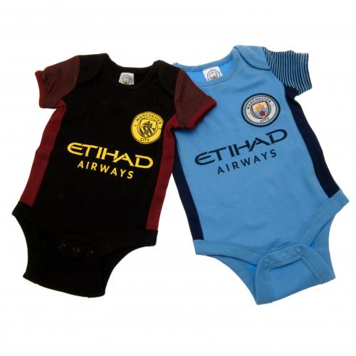 Manchester City F.C. 2 Pack Bodysuit 0/3 mths ST