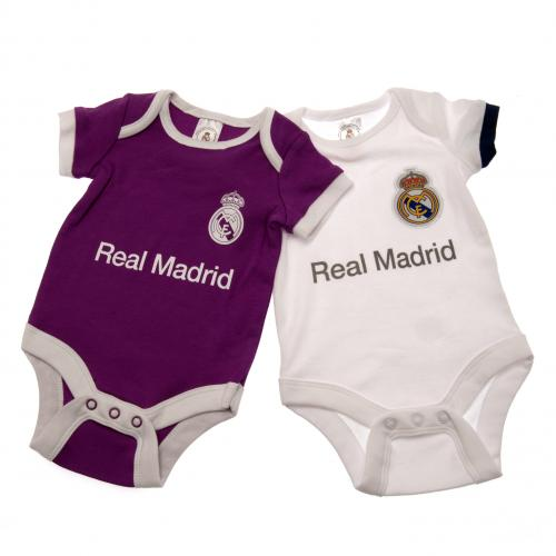 Real Madrid F.C. 2 Pack Bodysuit 6/9 mths PL