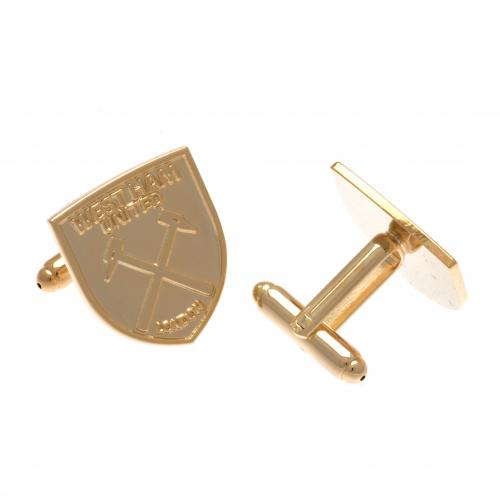 West Ham United F.C. Gold Plated Cufflinks