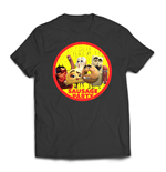 Sausage Party T-Shirt Distressed Character Badge