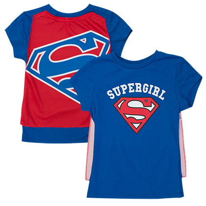 Supergirl Cape Costume Tee Shirt