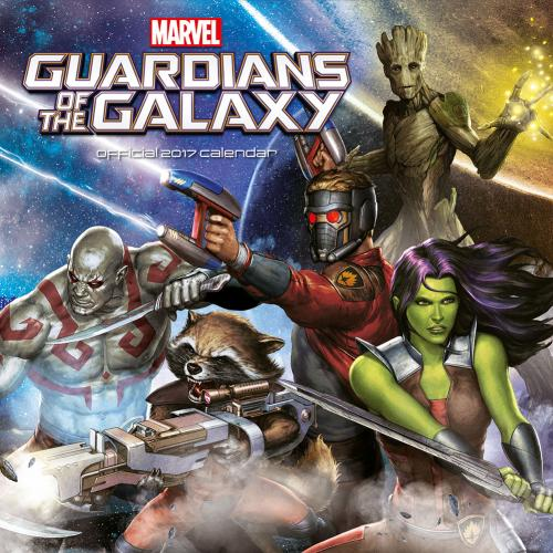 Guardians of the Galaxy Calendar 2017
