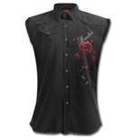 Day Of The Dead - Sleeveless Worker Shirt Black