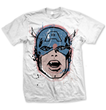 Marvel Comics T-Shirt Captain America Big Head Distressed