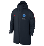 2016-2017 PSG Nike Hooded Stadium Jacket (Dark Obsidian)