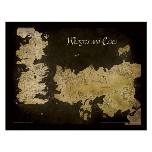 Game Of Thrones Framed Print Map 16 x 12