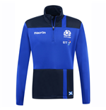 2016-2017 Scotland Macron Rugby Microfleece Half Zip Top (Blue)