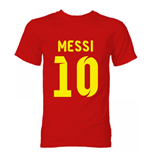 Barcelona Lionel Messi Hero T-Shirt (Red)