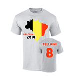 Belgium 2014 Country Flag T-shirt (fellaini 8)