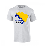 Bosnia 2014 Country Flag T-shirt (grey)