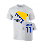Bosnia 2014 Country Flag T-shirt (dzeko 11)