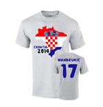 Croatia 2014 Country Flag T-shirt (mandzukic 17)