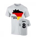 Germany 2014 Country Flag T-shirt (ozil 8)