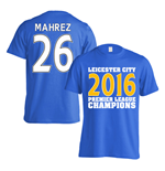 Leicester City 2016 Premier League Champions T-Shirt (Mahrez 26) Blue