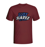 Luis Suarez Comic Book T-shirt (maroon)