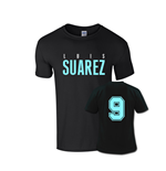 Luis Suarez Front Name T-shirt (black)