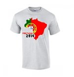 Portugal 2014 Country Flag T-shirt (grey)