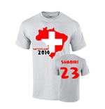 Switzerland 2014 Country Flag T-shirt (shaqiri 23)