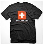 Switzerland Soccer T-shirt (black)
