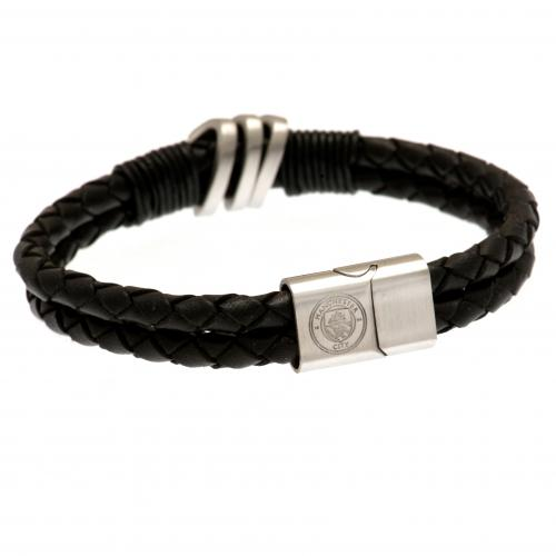 Manchester City F.C. Leather Bracelet