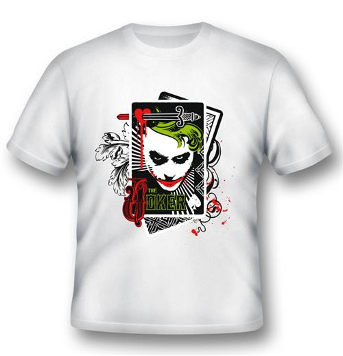 Batman T-shirt Joker Cards