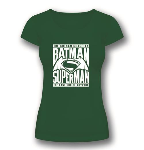 Batman vs Superman Women's T-shirt Superman Symbol Green