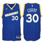 Men's Golden State Warriors Stephen Curry adidas Crossover Royal Swingman Alternate Jersey