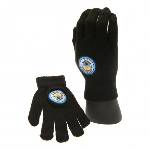 Manchester City F.C. Knitted Gloves Junior