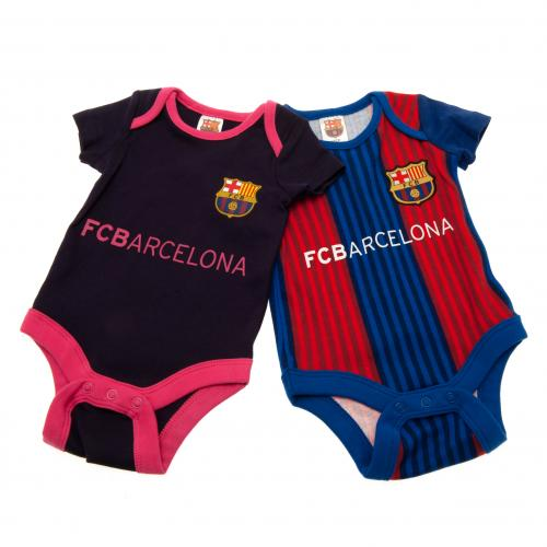 F.C. Barcelona 2 Pack Bodysuit 12/18 mths VS