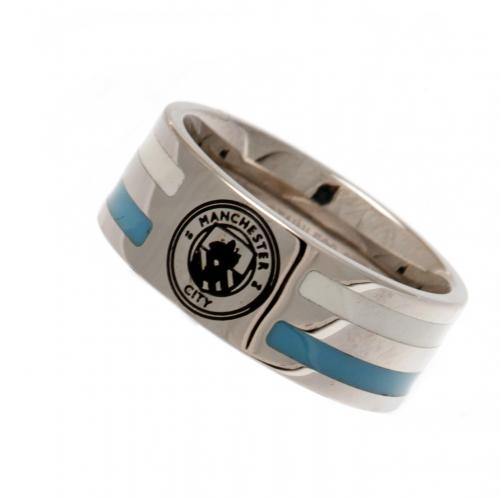 Manchester City F.C. Colour Stripe Ring Medium