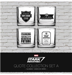 Iron Man Tumblers 4-Pack Stark Industries Quotes Set A