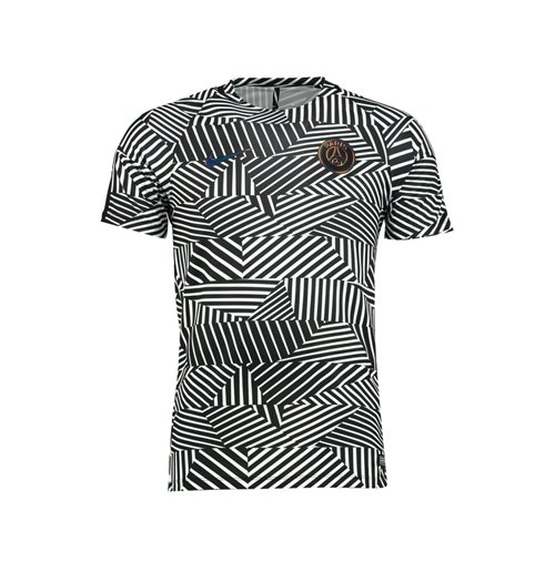 in stock 02a6b ad09c 2016-2017 PSG Nike Pre-Match Training Shirt (White-Black)