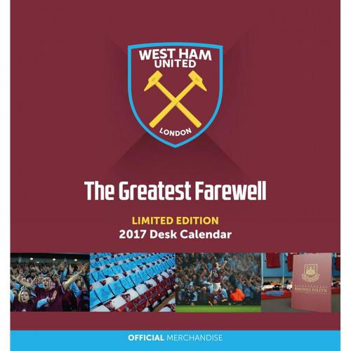West Ham United F.C. Desktop Calendar 2017