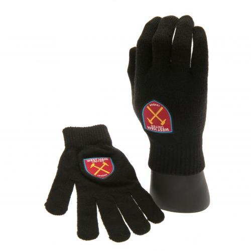 West Ham United F.C. Knitted Gloves Junior