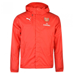 2016-2017 Arsenal Puma Lightweight Rain Jacket (Red)