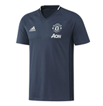 2016-2017 Man Utd Adidas Training Tee (Mineral Blue) - Kids