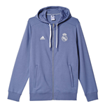 2016-2017 Real Madrid Adidas 3S Hooded Zip (Purple)