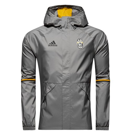 f1ff1a868e6 Buy Official 2016-2017 Juventus Adidas Allweather Jacket (Solid Grey)