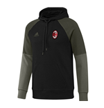 2016-2017 AC Milan Adidas Hooded Sweat Top (Black)