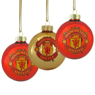 Manchester United F.C. 3pk Round Baubles