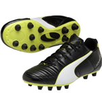 Puma Universal FG Football Boots (Black-White-Green)