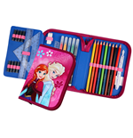 Frozen 30-Piece Pencil Case with content Anna & Elsa