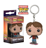 Back to the Future II Pocket POP! Vinyl Keychain Marty McFly on Hoverboard 4 cm