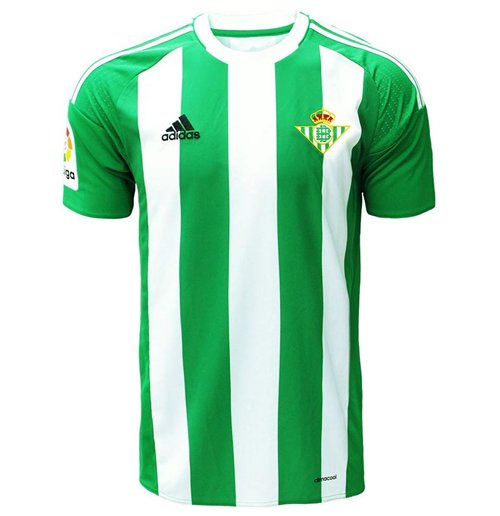 Descenso repentino Noroeste Chaise longue  Buy Official 2016-2017 Real Betis Adidas Home Football Shirt