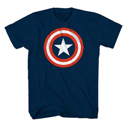 CAPTAIN AMERICA Youth Star Logo Tee Shirt