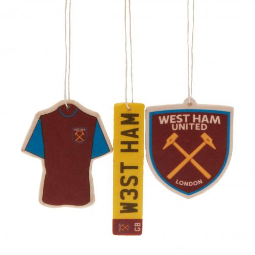 West Ham United F.C. 3pk Air Freshener